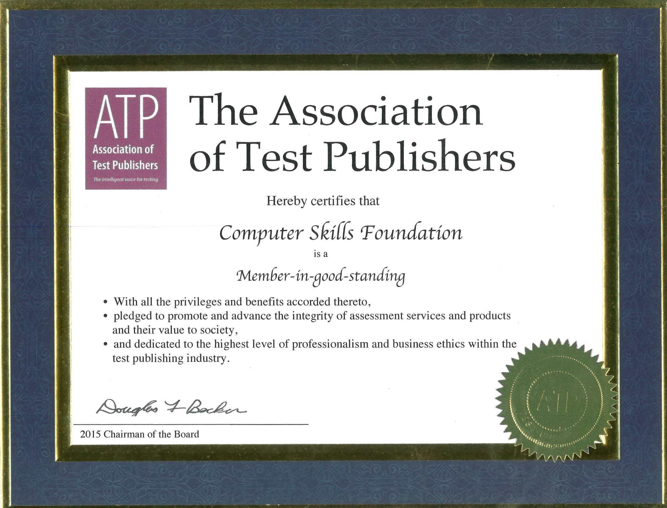 Computer Skills Foundation is a Member-in-good-standing